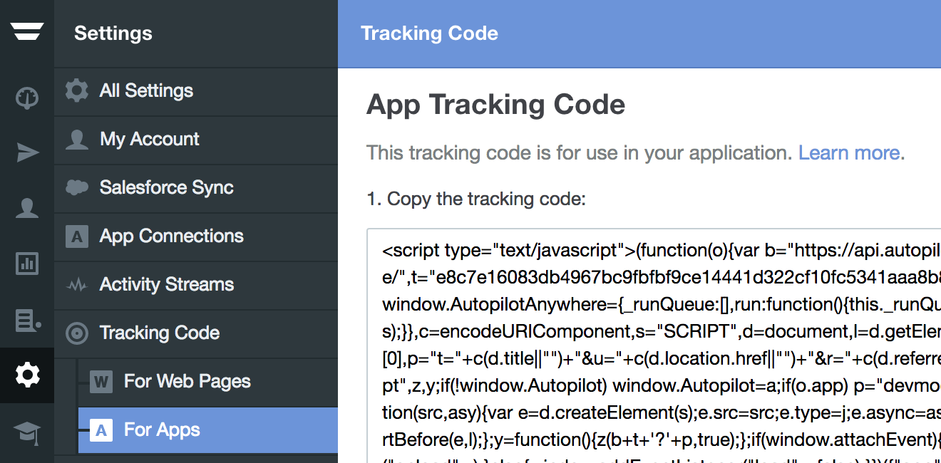 track user activity in your app and display in app messages home