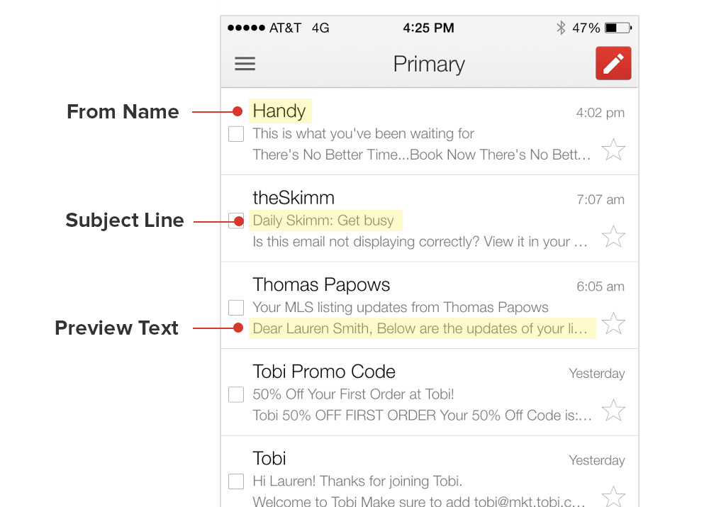 How do I control an email's preview text? – Home